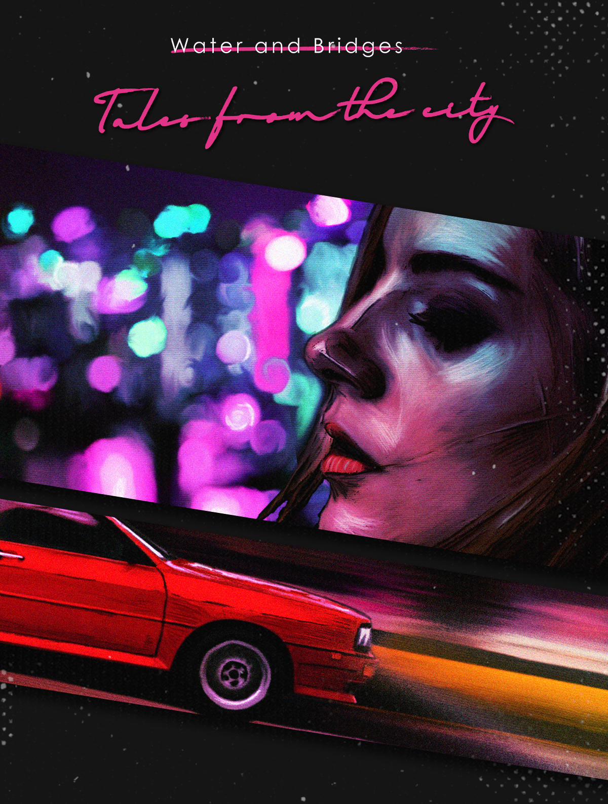 Tales From The City -Album Cover Design (synthwave) on Behance