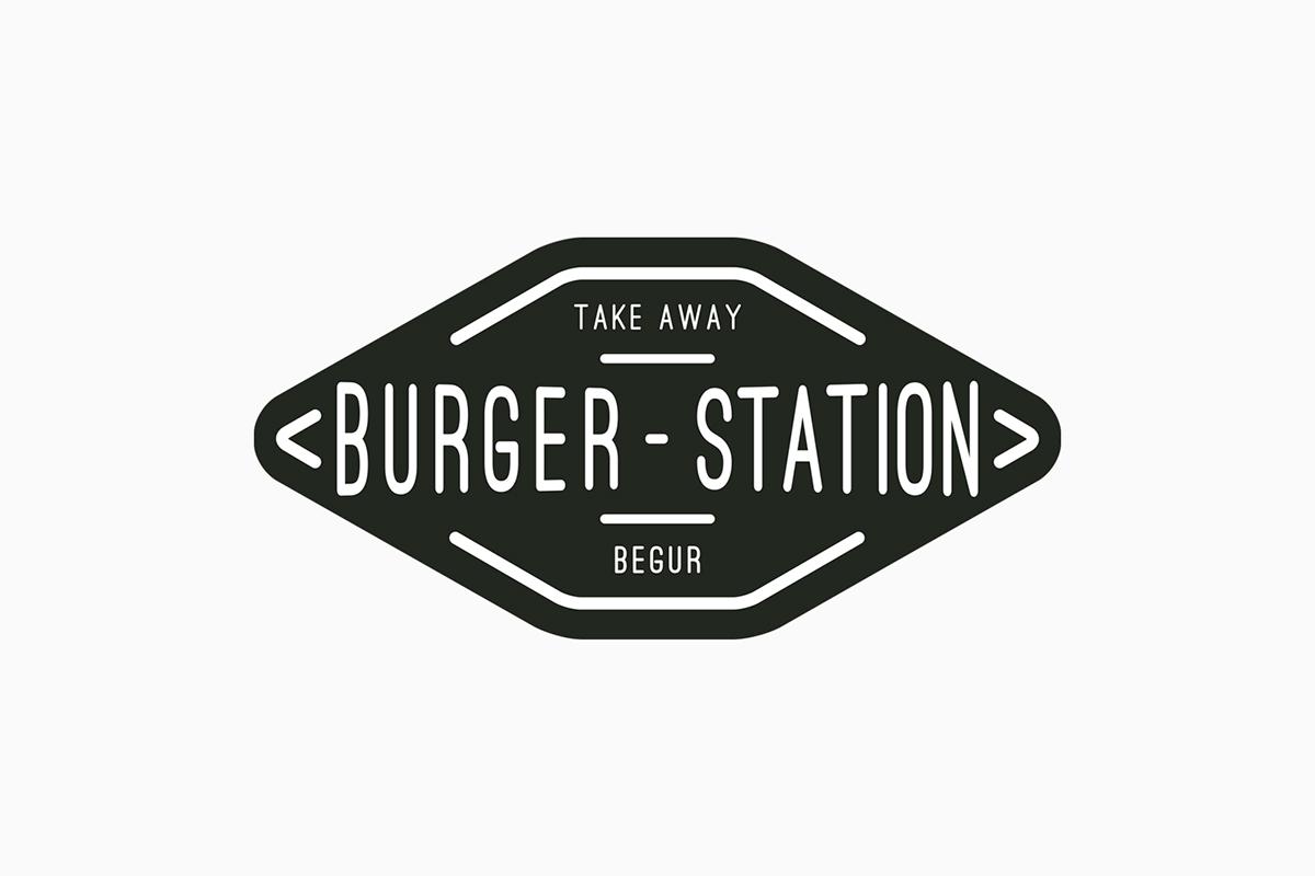 burger station on behance