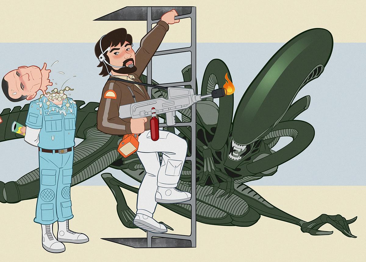 alien animation  cartoon movie