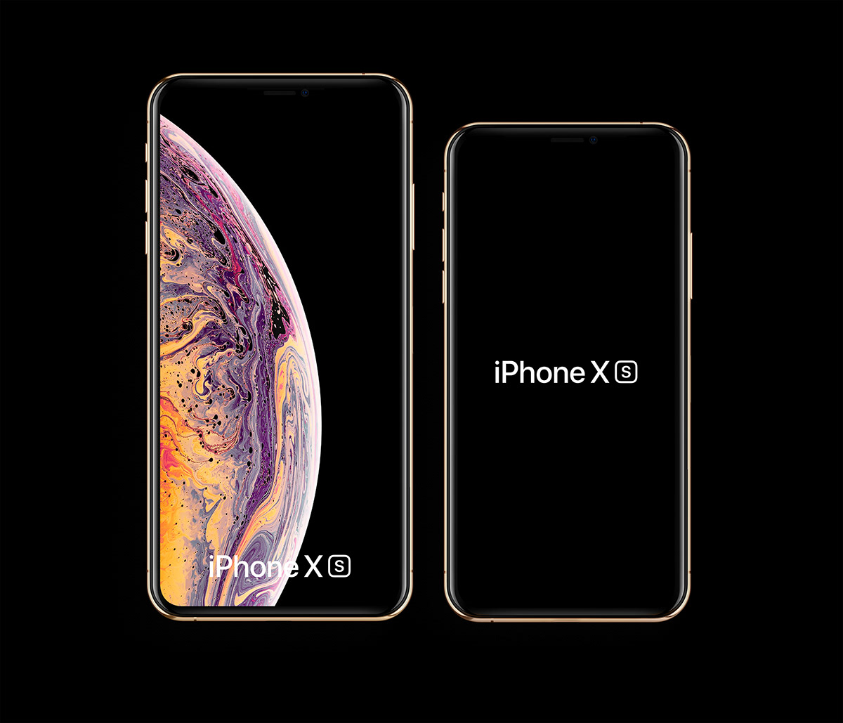 Free Mockups: iPhone Xs and iPhone Xs Max
