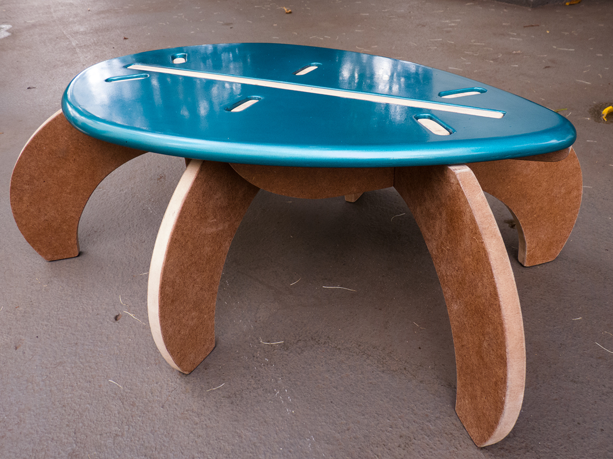 bench Recreational kid's nature inspired mdf cnc
