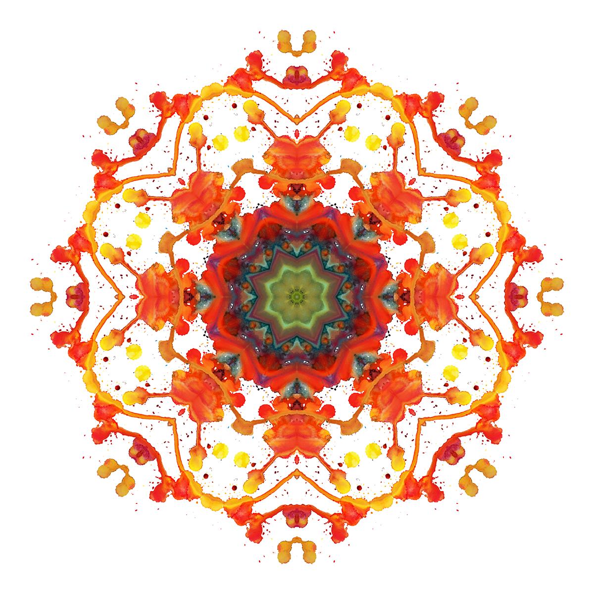 watercolor Caleidoscope color