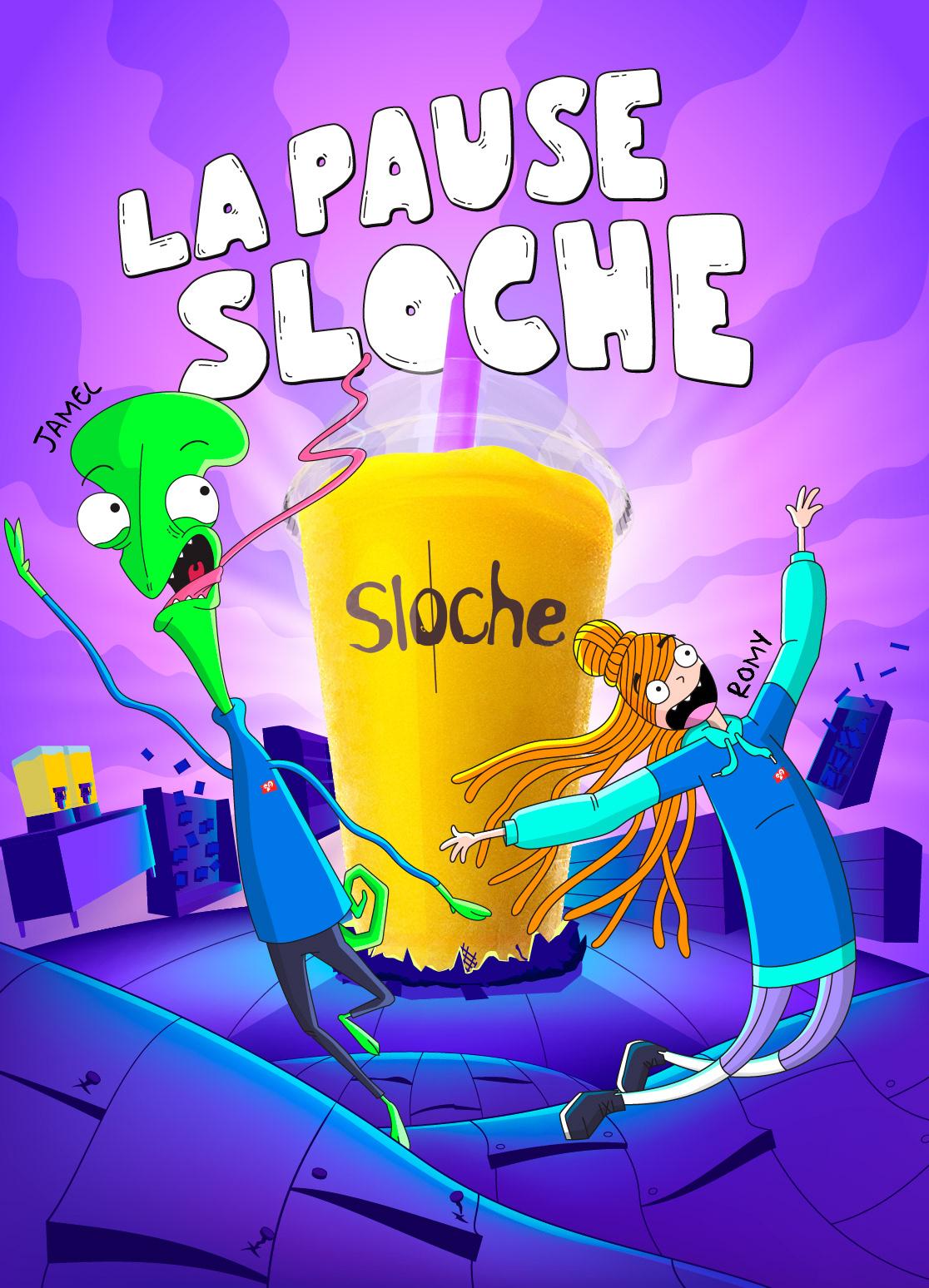 couche-tard havas sloche slush slushee Slushie Animated Series