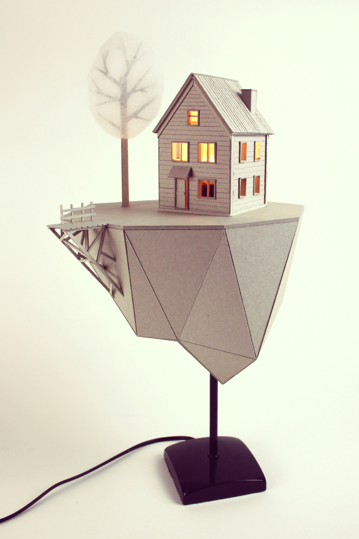 Floating Island 183 Cardboard Lamp On Behance