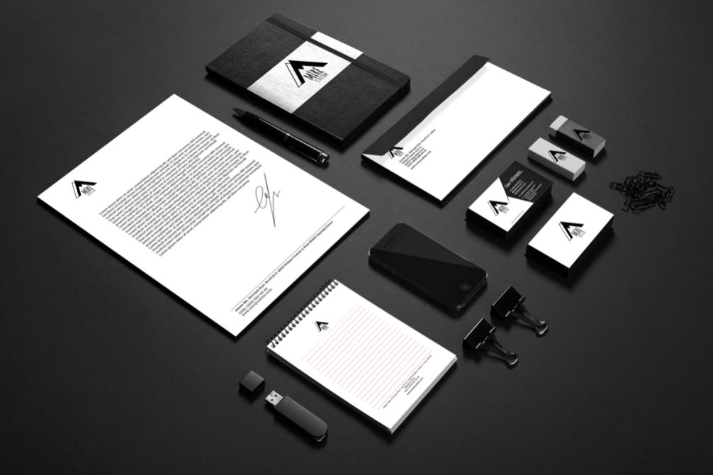 Corporate Identity Illustrator brand mock up