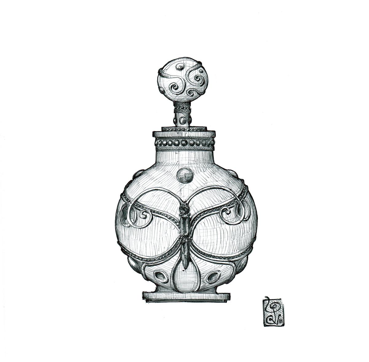 Bottle On Perfume Design Behance Bottle Design Perfume ulJc51F3TK