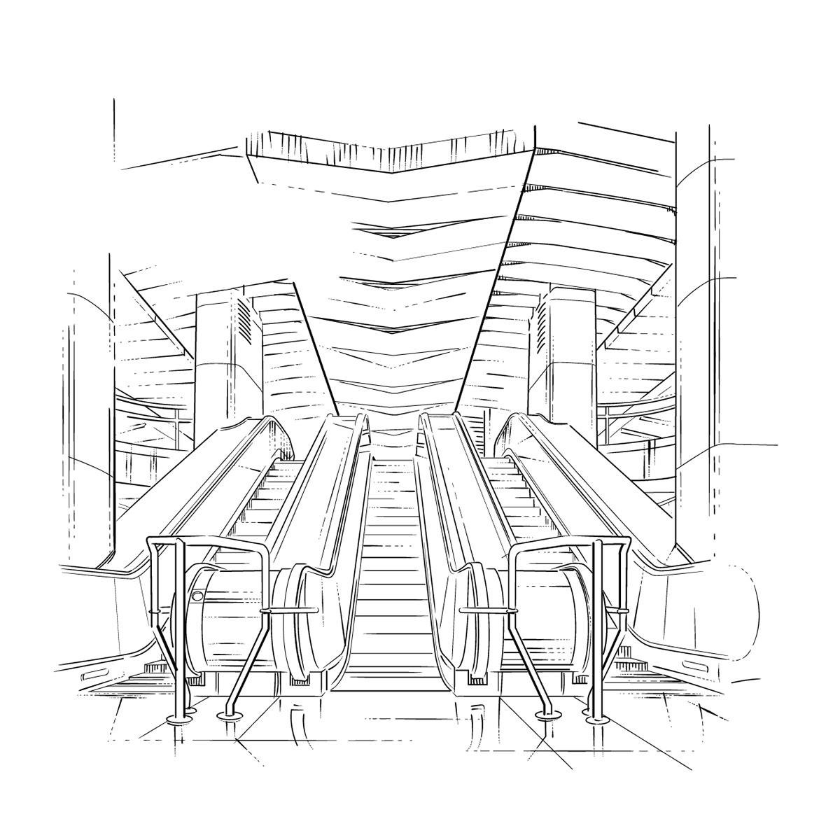architecture moscowmetro illistration picomaticagency orderillustration moscowartist