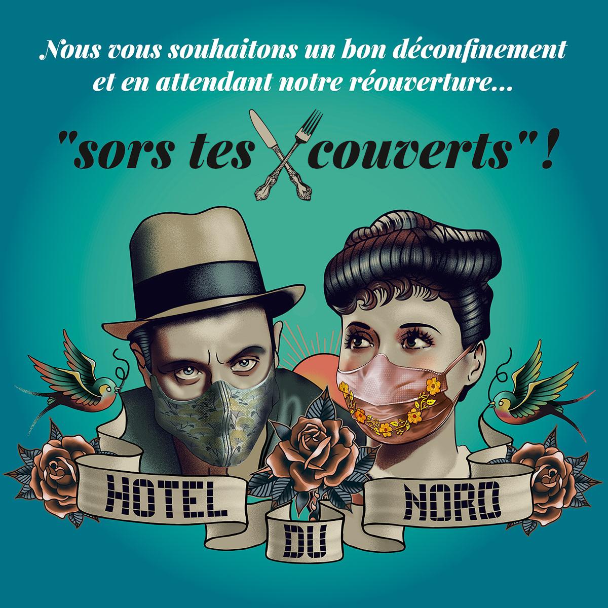 confinement Covid 19 Hôtel Du Nord Louis Jouvet arletty