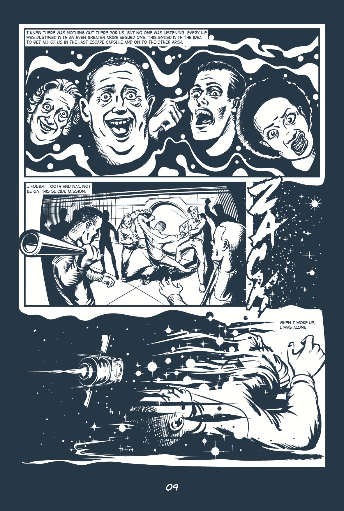comic storyboard sci-fi alone
