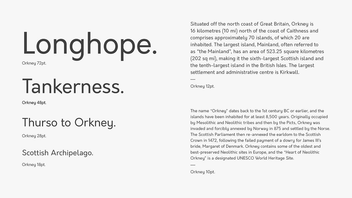 Orkney,Typeface,grotesque,geometric,open source,free