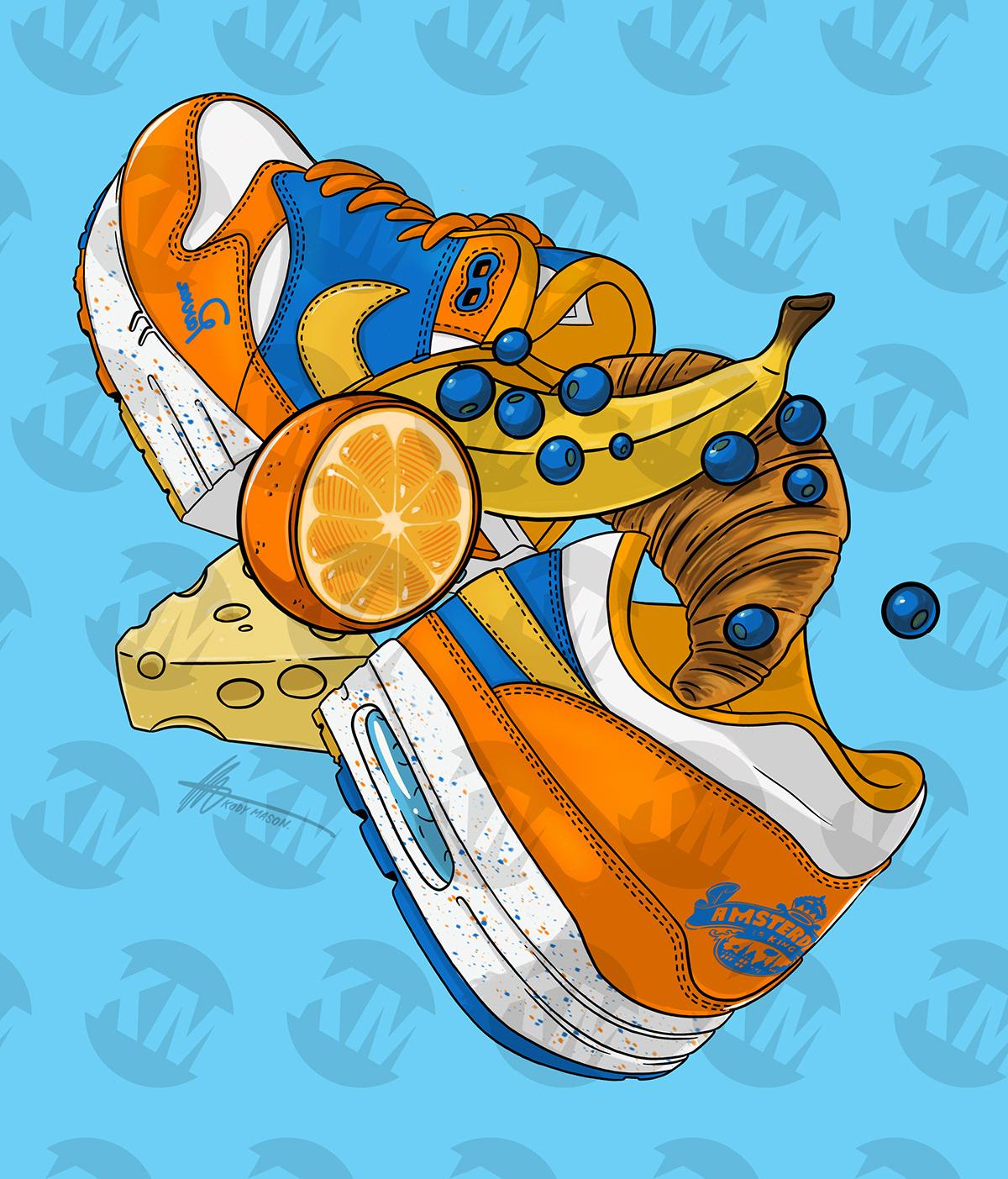 Air Max 1 Albert Heijn Sneaker Illustration On Behance