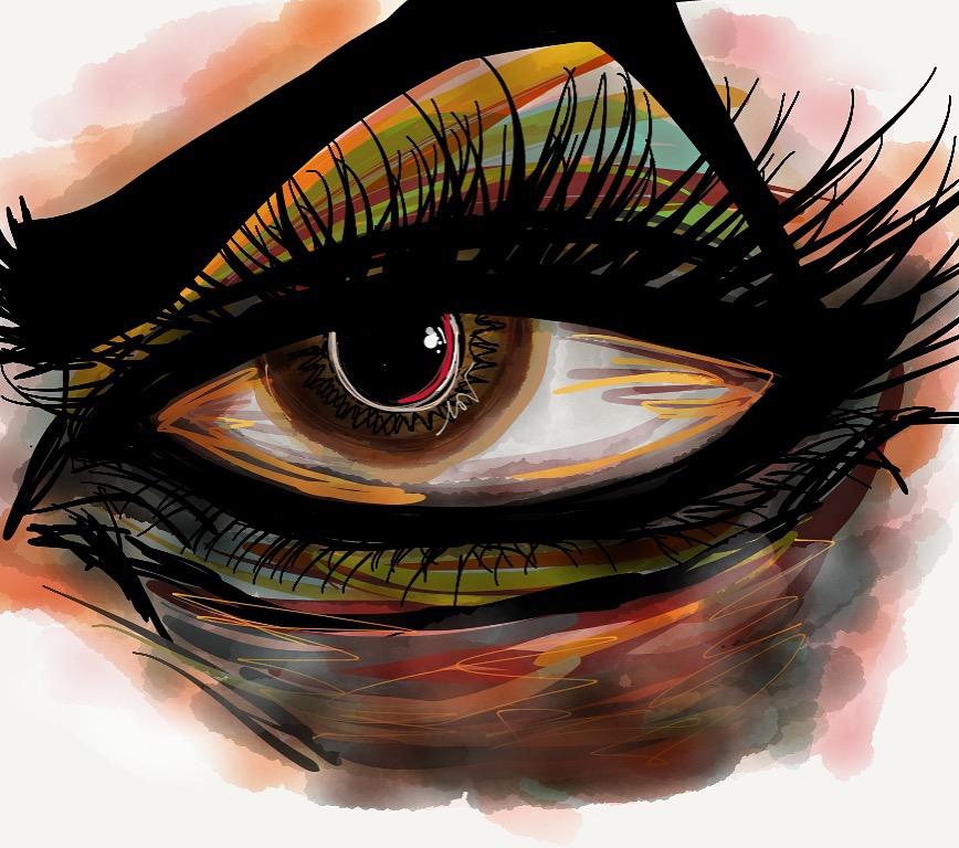 eye watercolor iPad