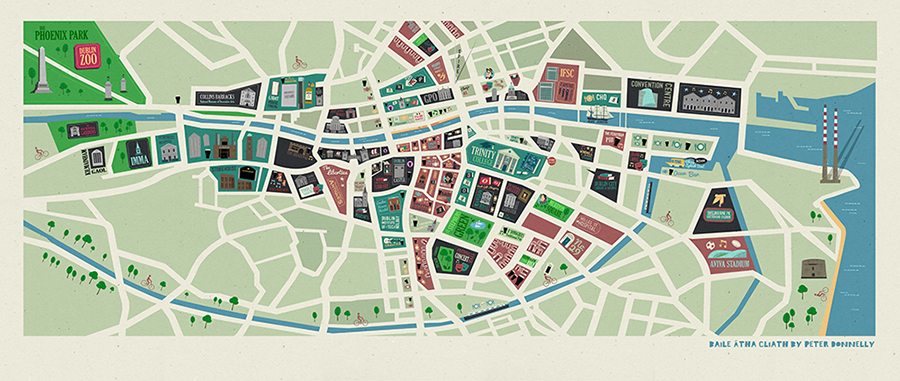 Dublin City Map on Behance – Tourist Map Dublin