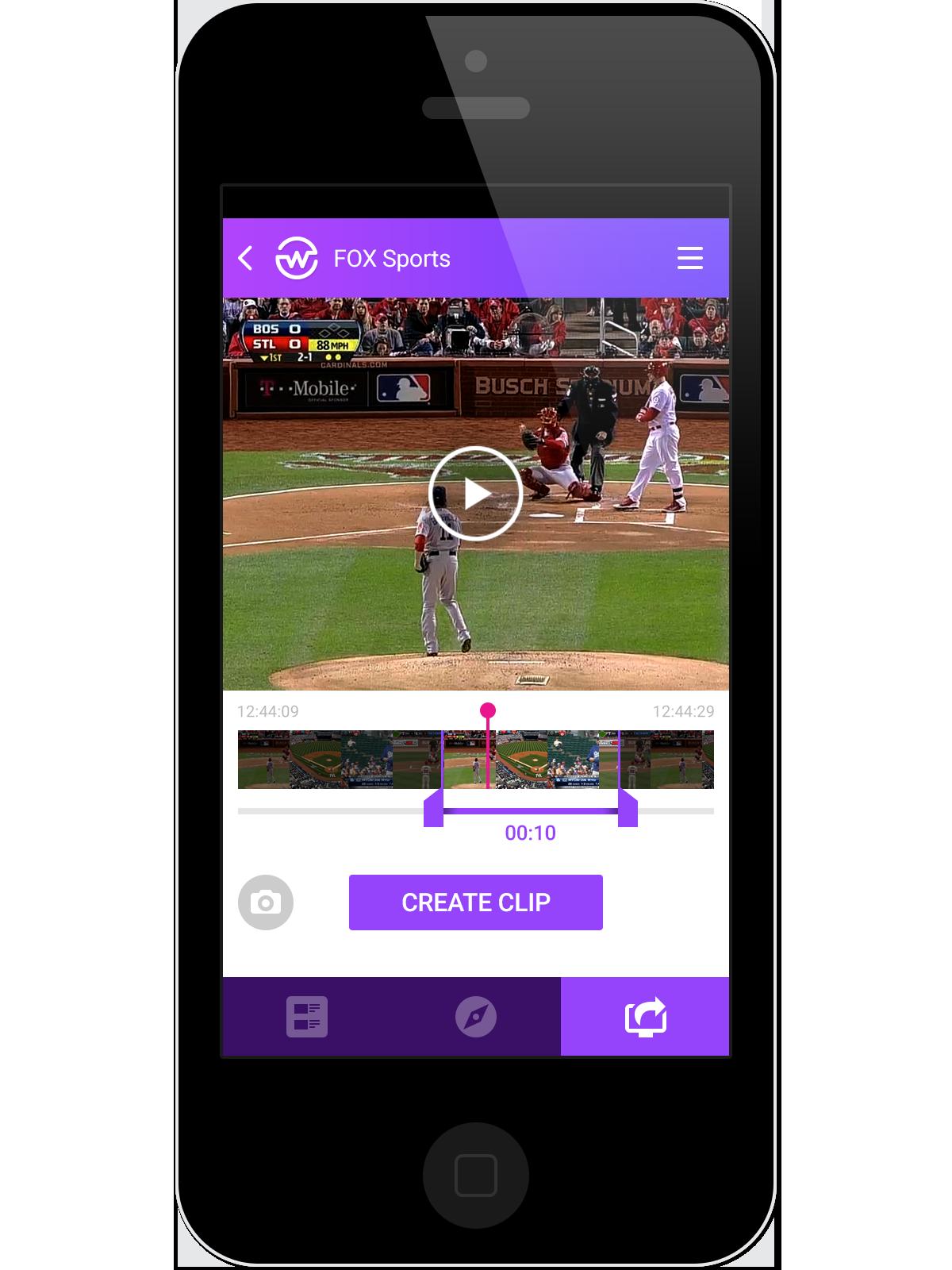 app application landing Website Startup video tv television edition