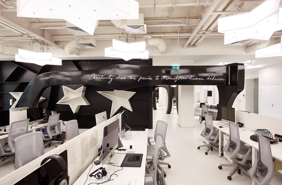 leo burnett moscow office on behance