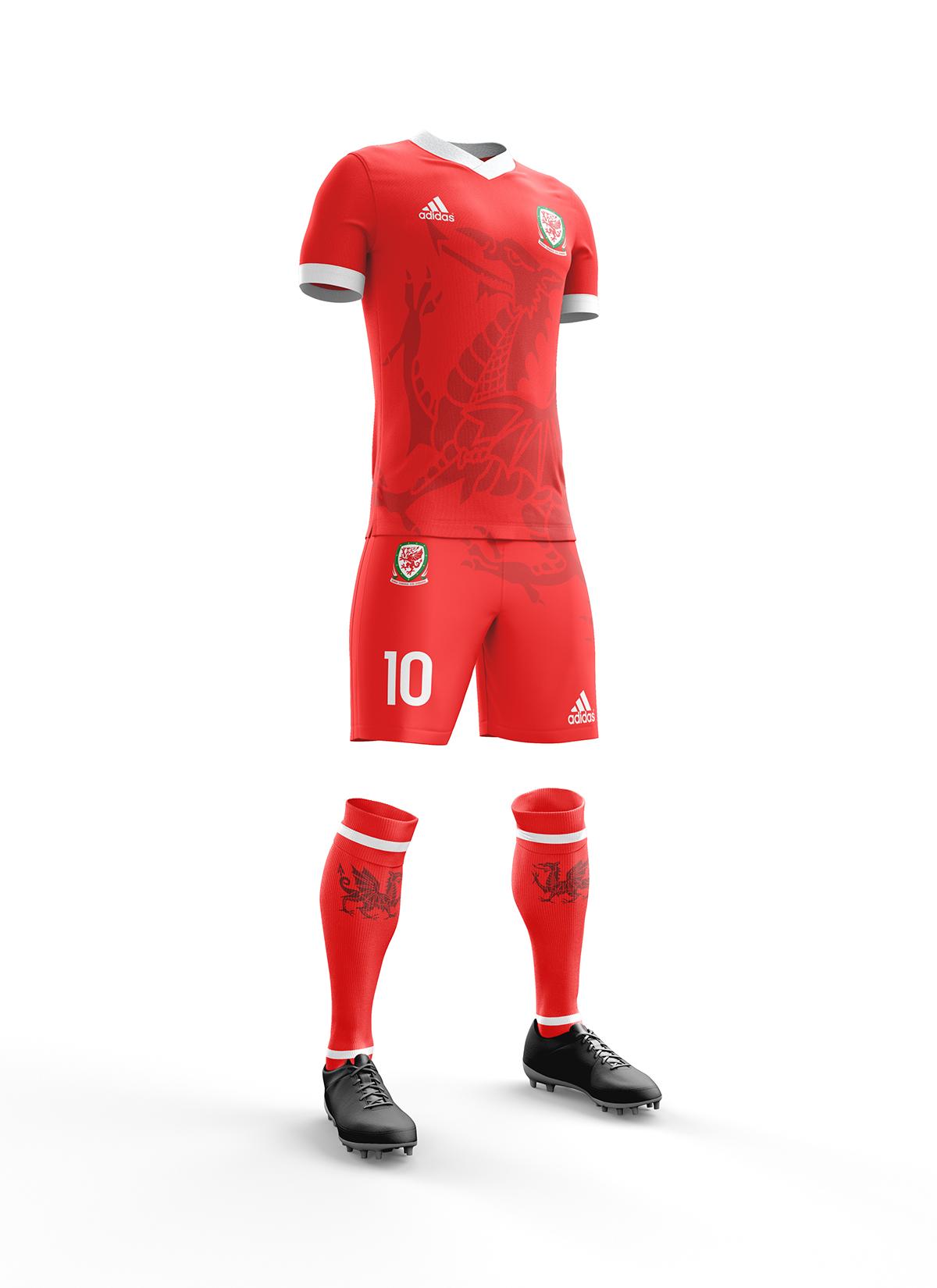 08cd2a74347 wales football kit 2017/18 design on Behance