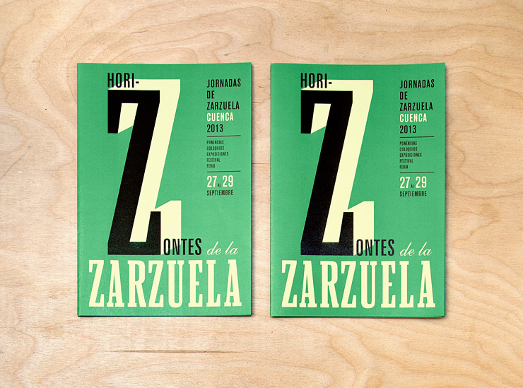tipografia musica zarzuela cartel identidad gráfica campaña gráfica