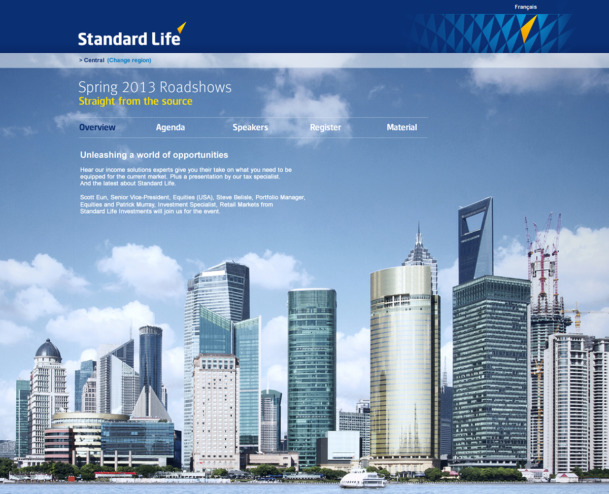 Standard life investments global ii - Homepage For Standard Life S Spring Roadshow With Conferences Focusing On Global Equities Each Page Features A Different Skyline Many In Emerging Markets