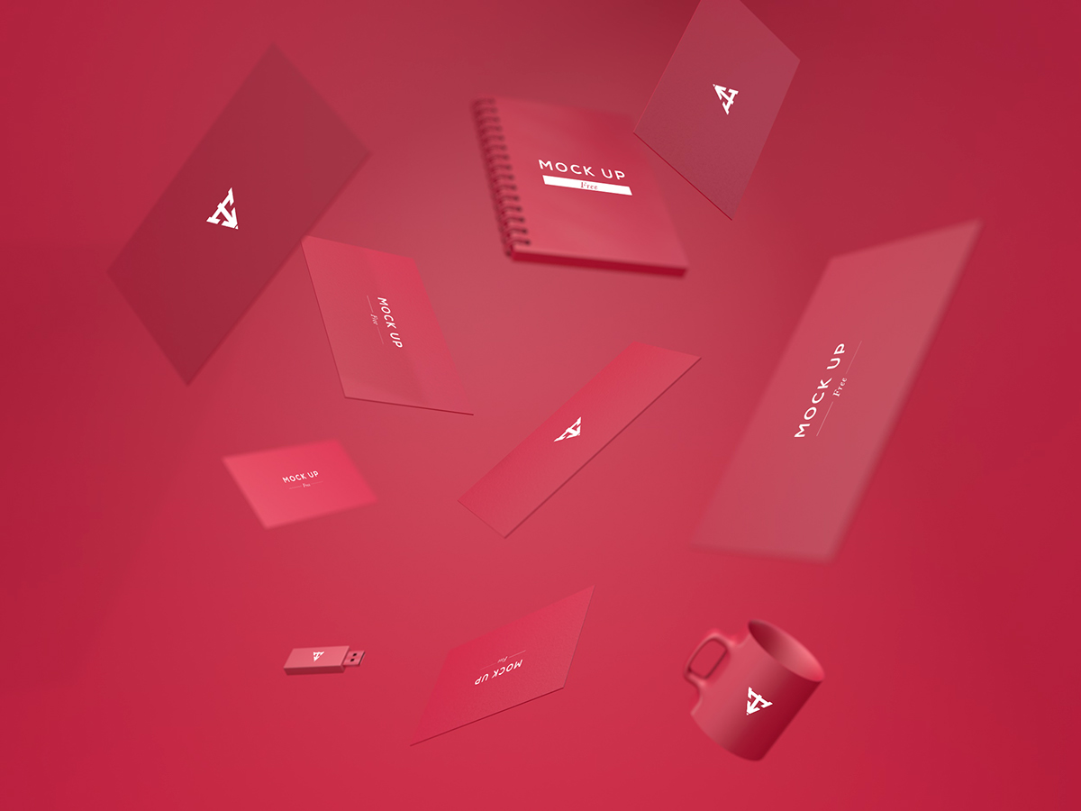 free Stationery business card mock up download freebies psd identity template brand gratis Mockup corporate print smart objects