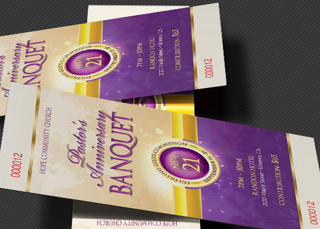 clergy anniversary banquet ticket template on behance