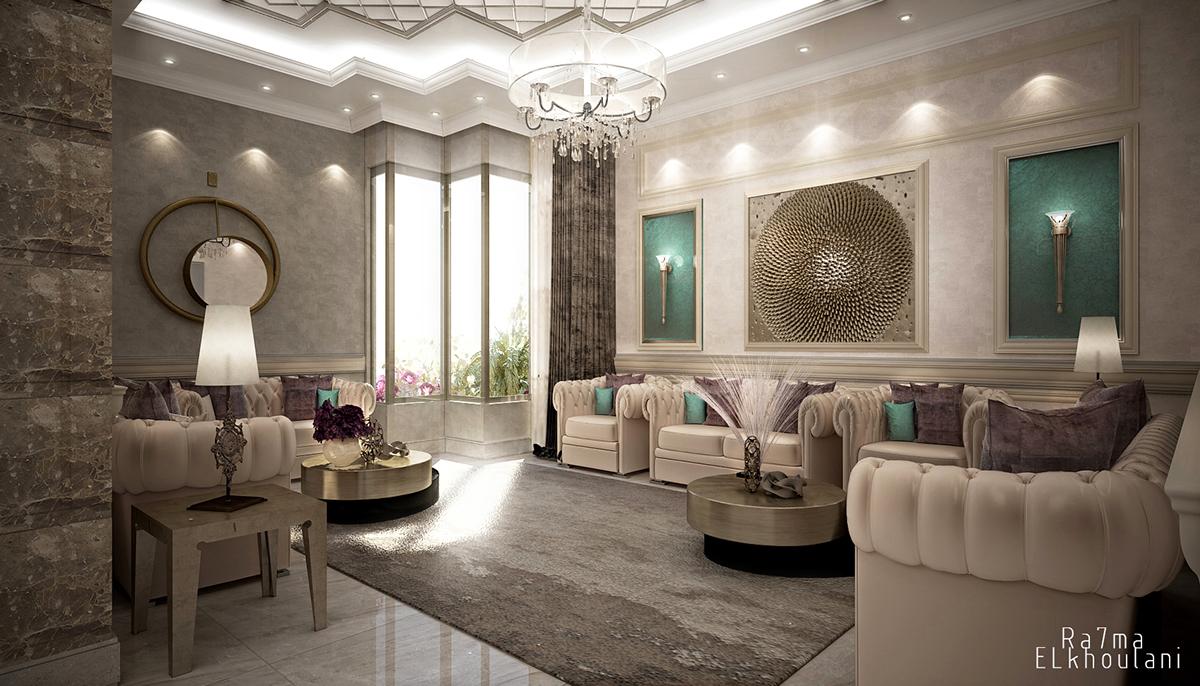 Modern Classic Living Room On Behance