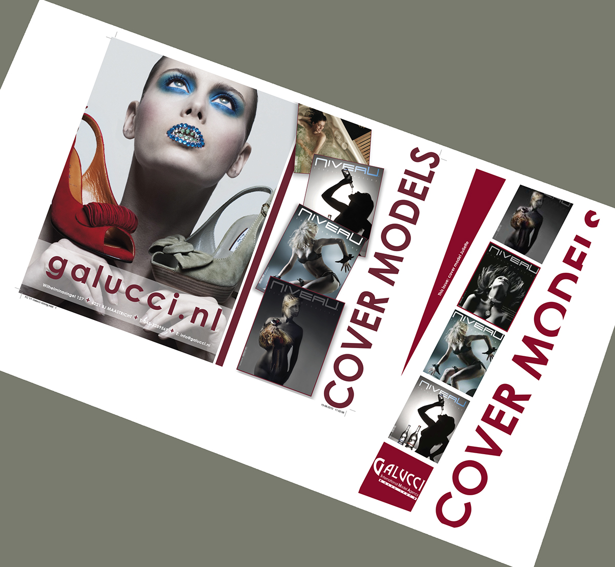 setcards flyers newsletters Website galucci galucci model agency