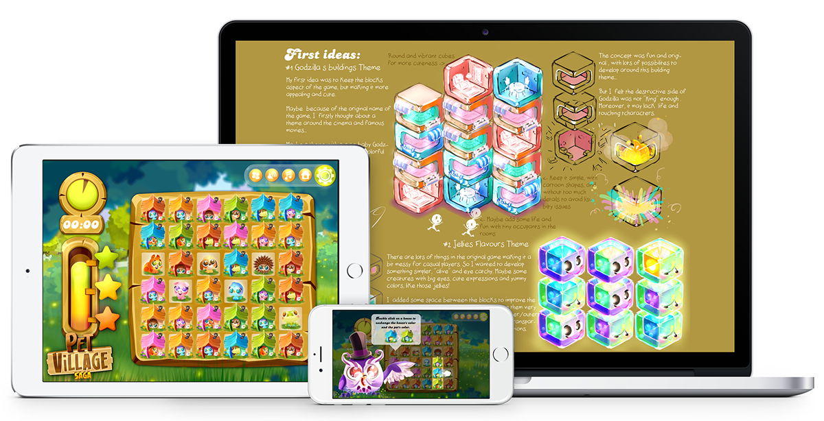 art direction  concept art Visual Development mobile game video game assets GUI game design  senior artist 2D vector Art