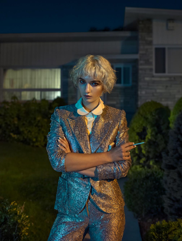 led night Fashion  magazine house burger makeup hair stylist designer