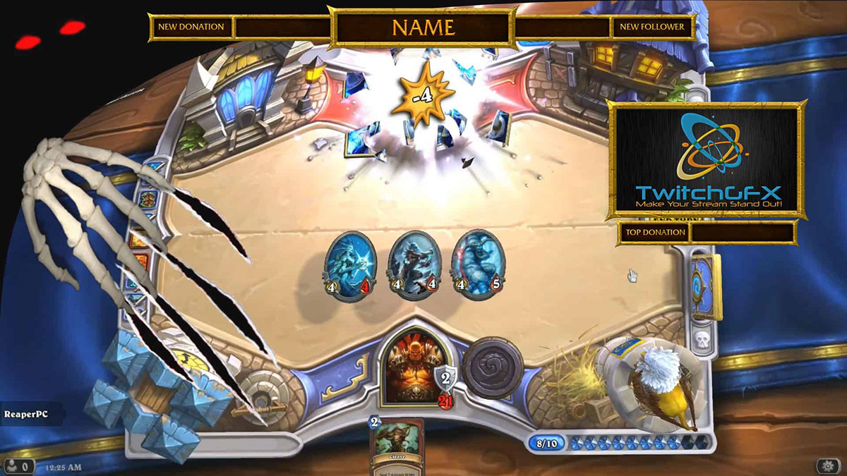 free hearthstone twitch overlay on student show