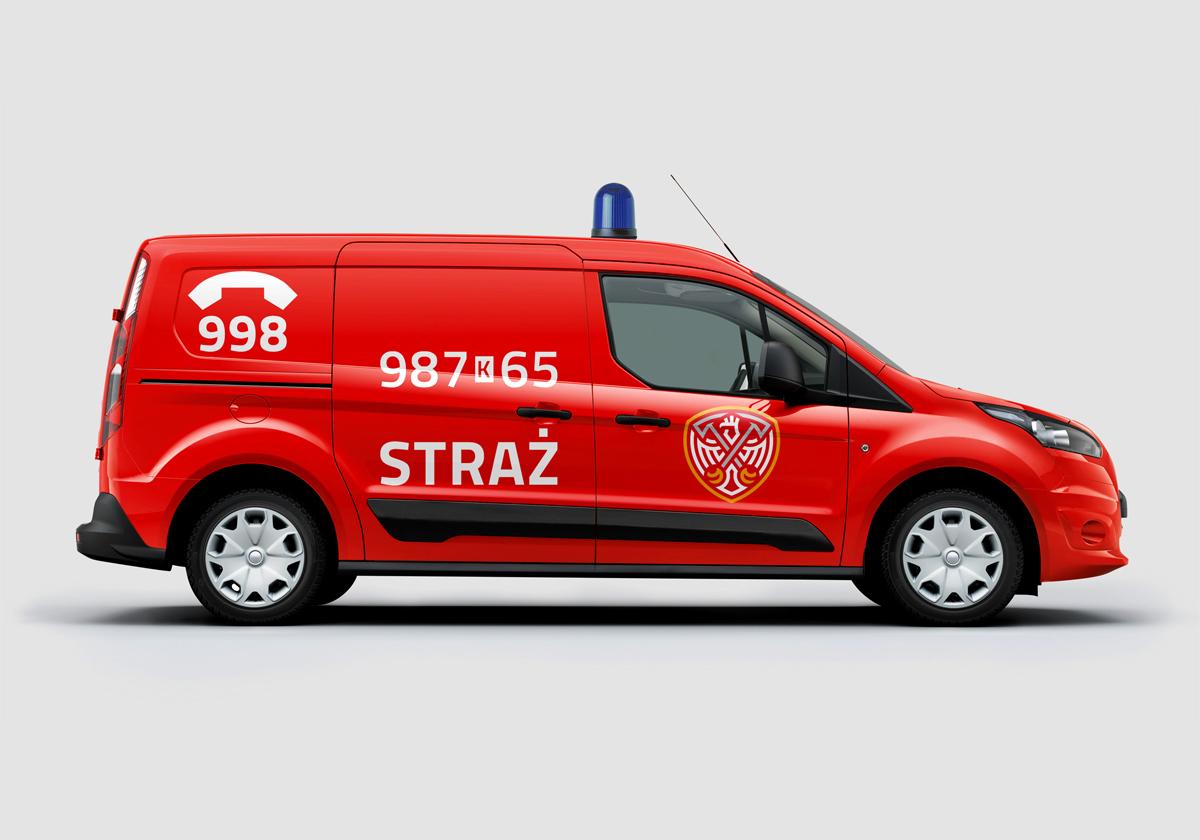 logo Fire Department straż pożarna polska poland badge