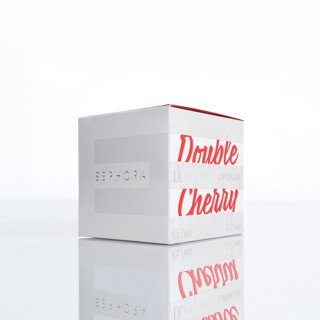 makeup logo design box jar Layout sephora lipbalm explicit Summer2014 package design  product beauty