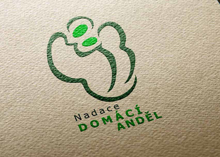 logo angel Social Work non profit NGO help society brand family desability Love support care graphic burger