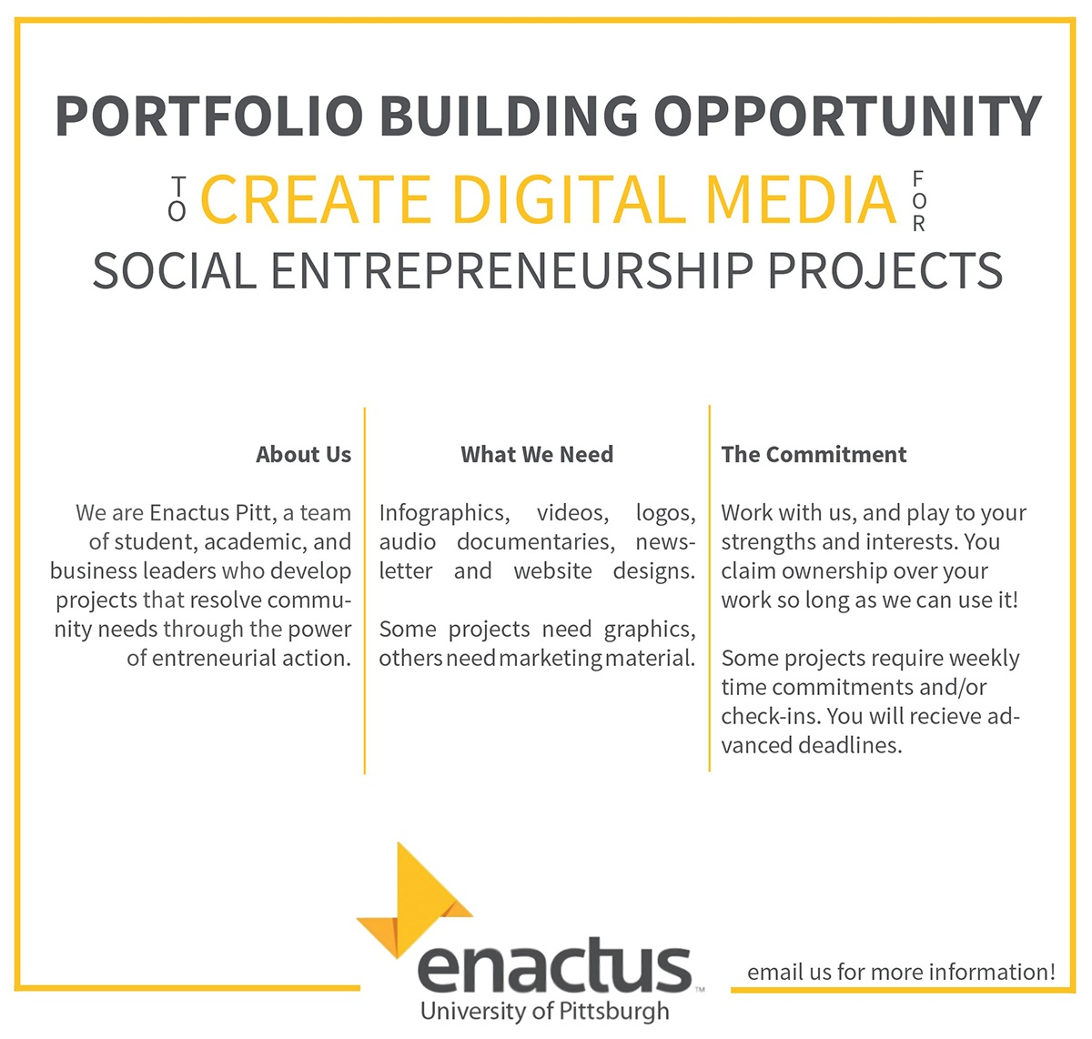 Enactus Pitt Print On Behance