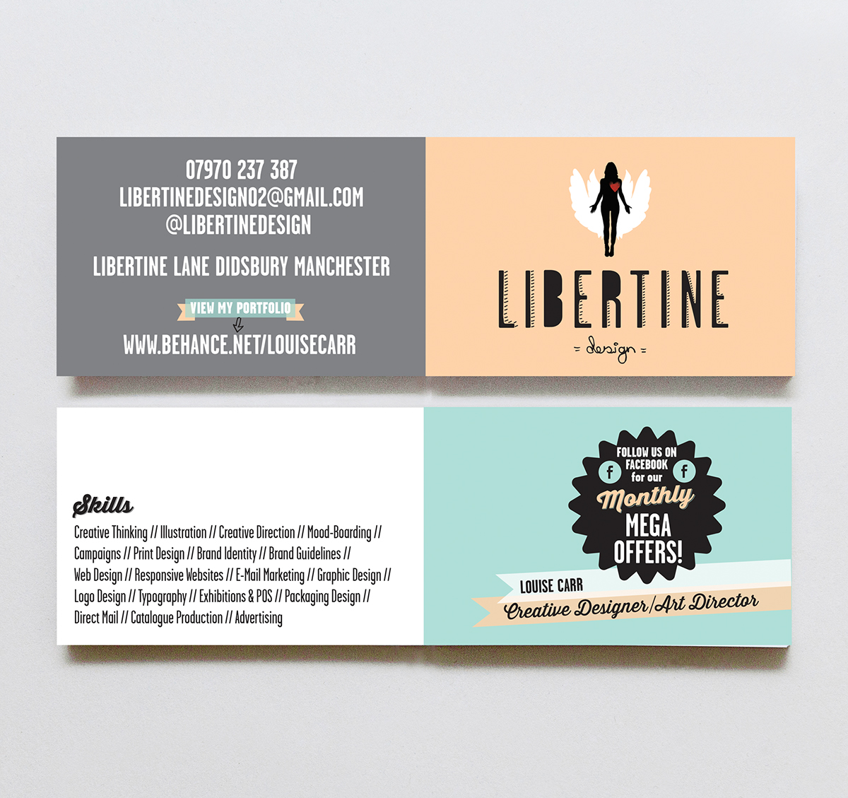 Libertine design business card on behance colourmoves