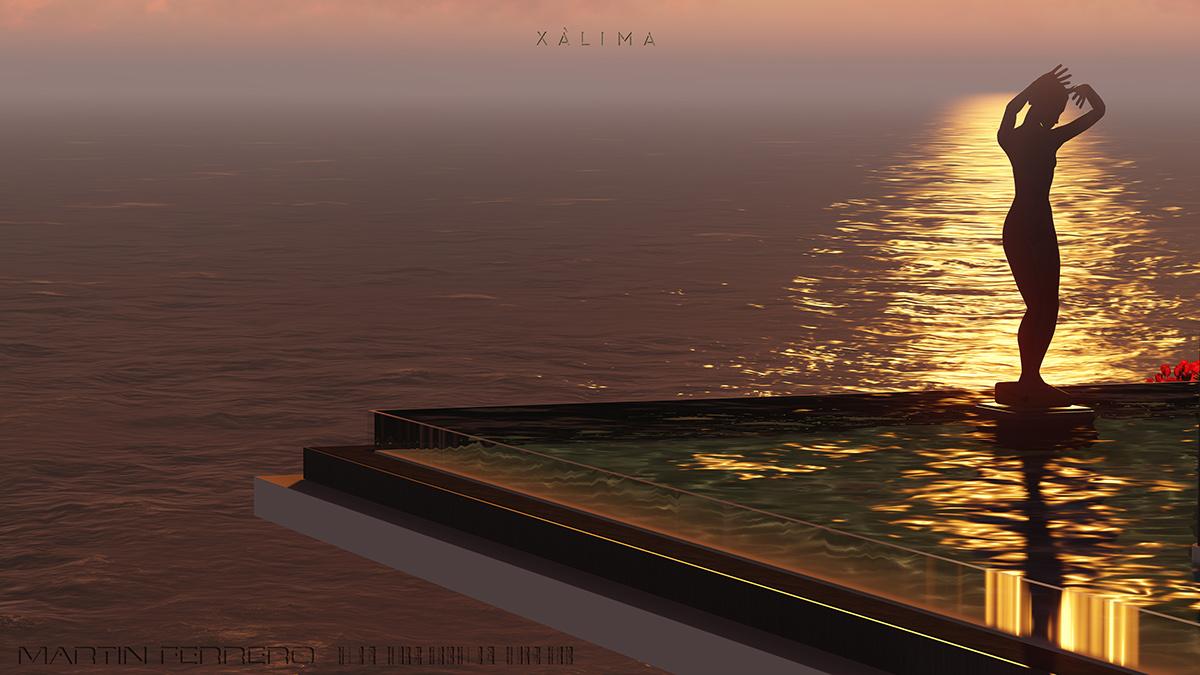 x 225 lima on behance xalima island villa une villa de luxe onirique
