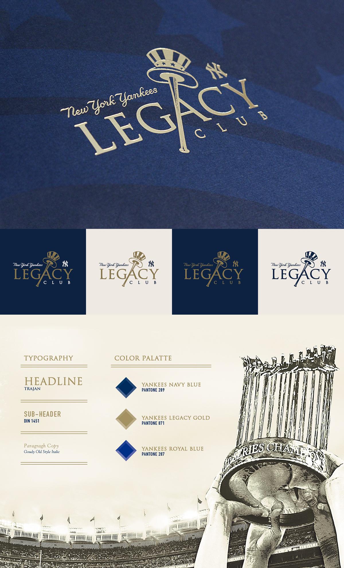 new york yankees legacy club on behance