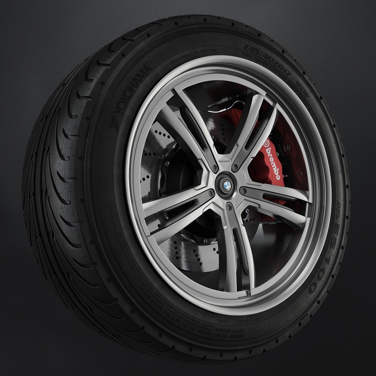 yokohama AVs ES100 roventa aleaxandru ruver design car Tire rim wheel 3D MAX 3ds