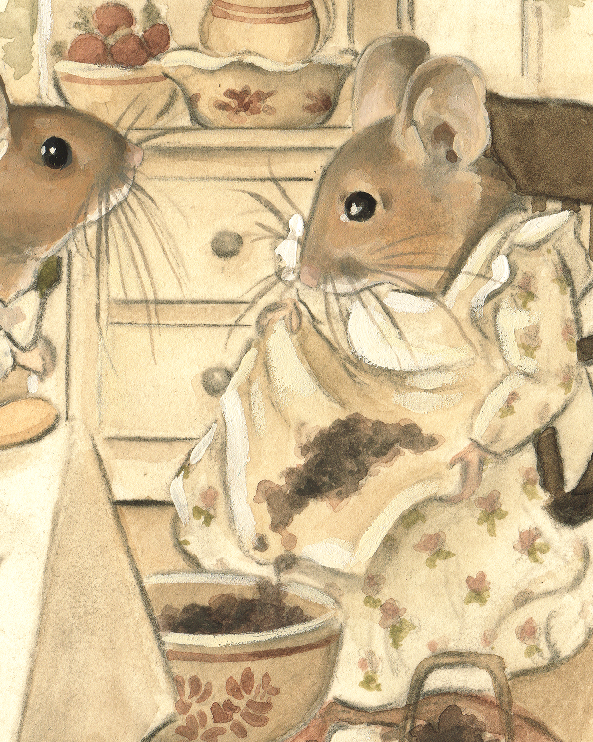Childrens Art The Town Mouse Country On Behance And Blackberries Close Up Detail