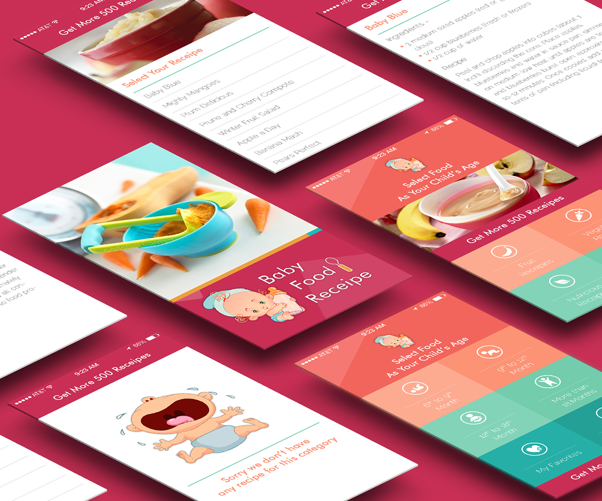 Baby food recipes mobile app design on behance baby food recipes mobile app design published october 21 2014 thank you forumfinder Images