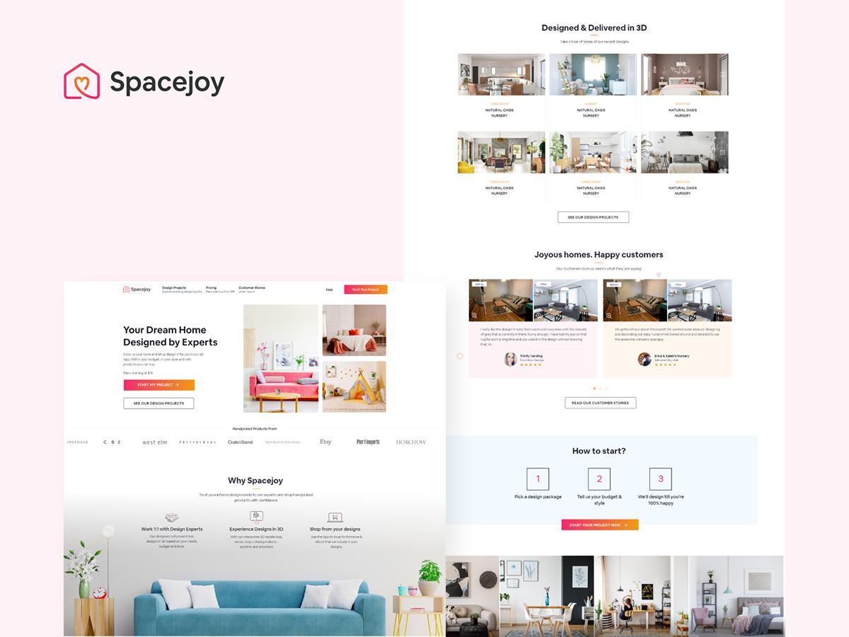 Spacejoy landing page