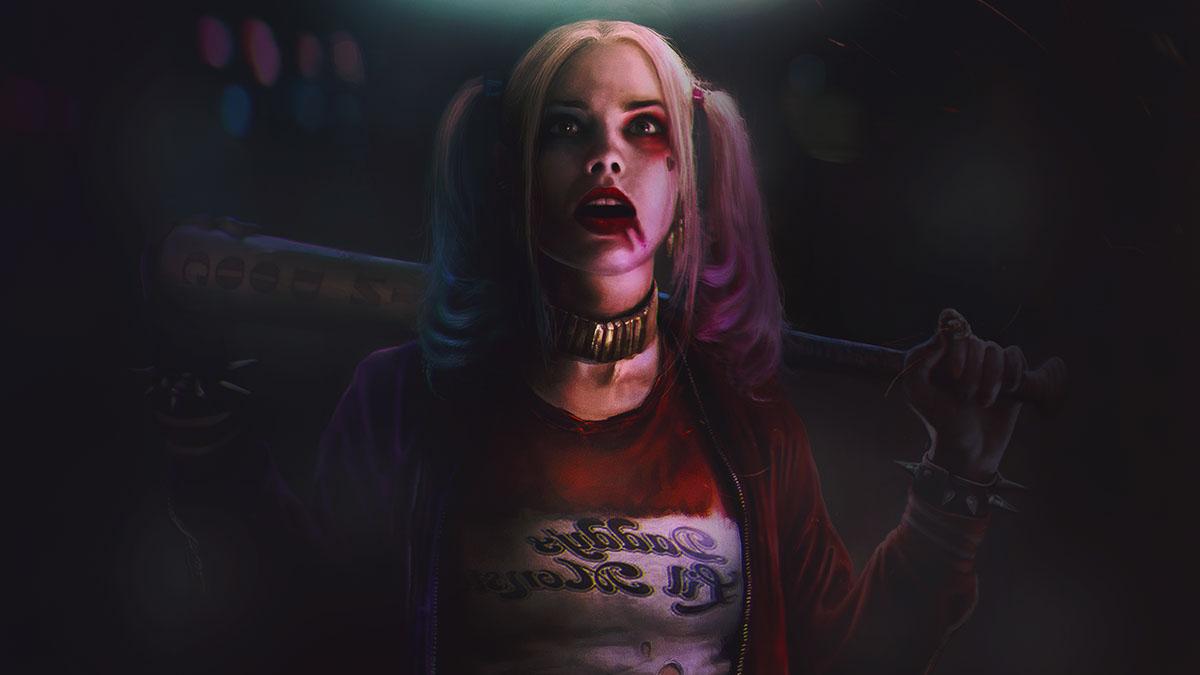 Harley Quinn Wallpaper Color Correction Lightingedit On