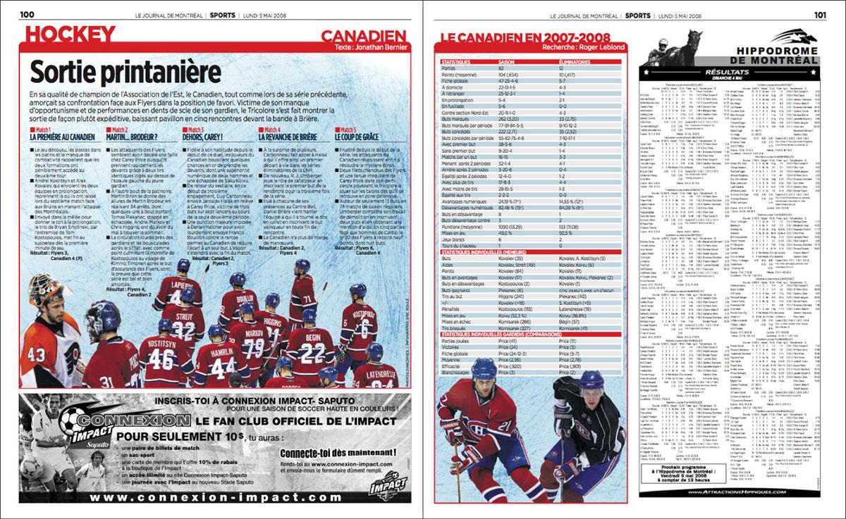 newspaper print cover Montreal
