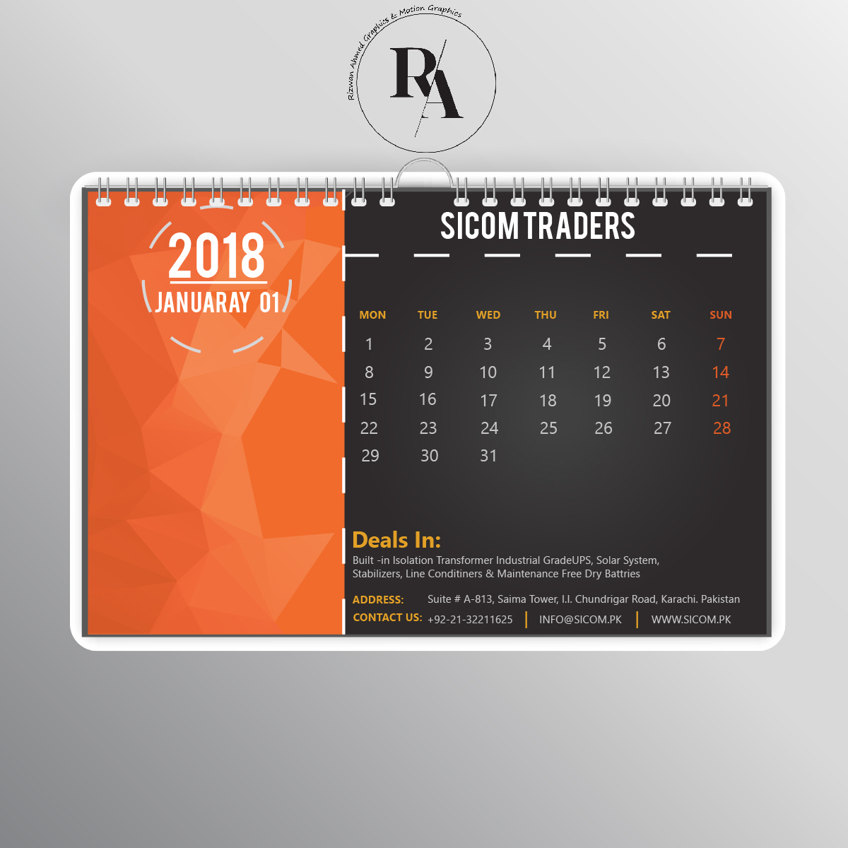 Calendar Design With Photos : Creative calendar designs for easyprint