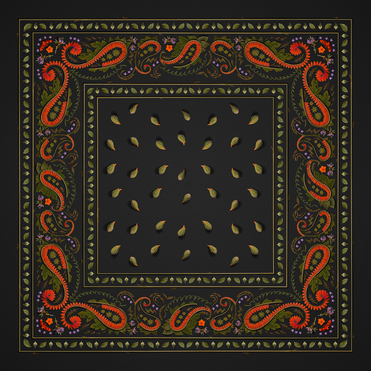 Image may contain: rug, pattern and motif