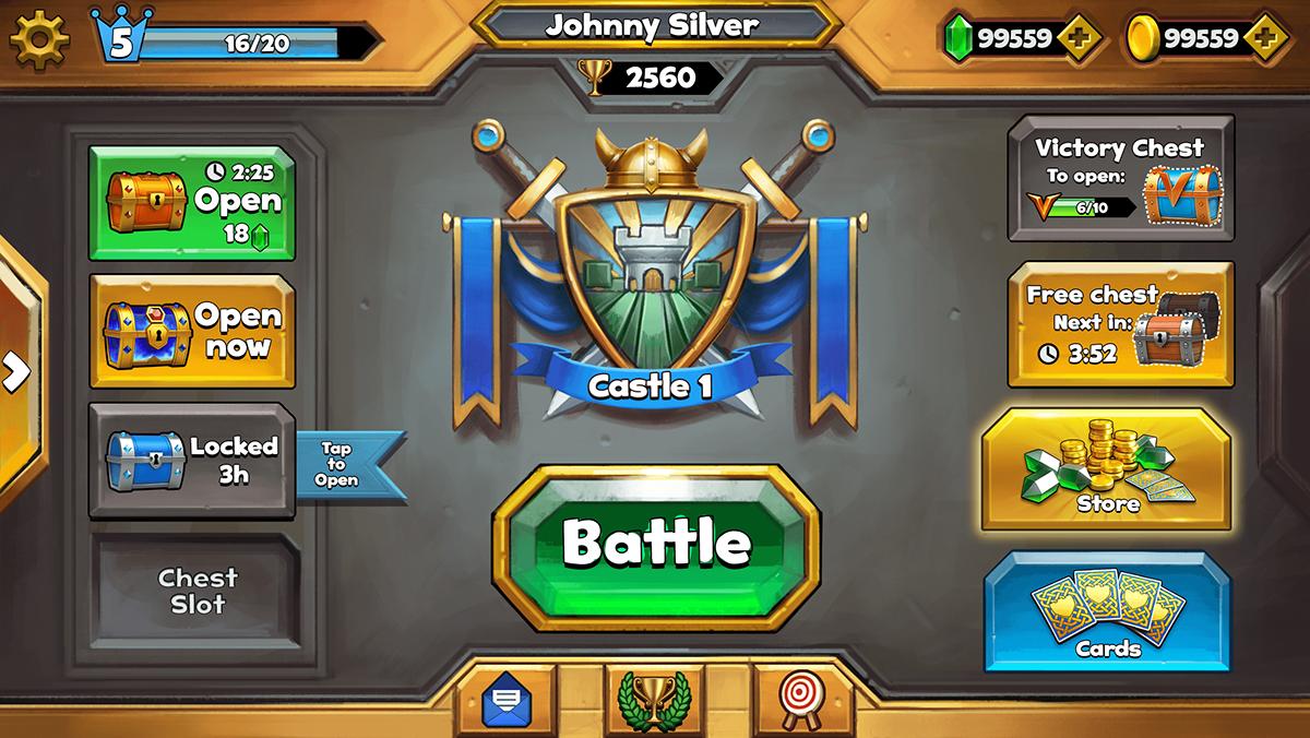 castle crush game art development on behance