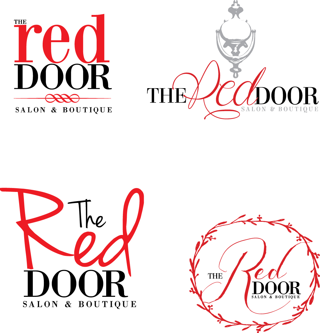 The Red Door Logos - A local salon contacted me to rebrand their image to be more Boutique friendly since they added a store and were starting to sell ...  sc 1 st  Behance & Logo Design on Behance