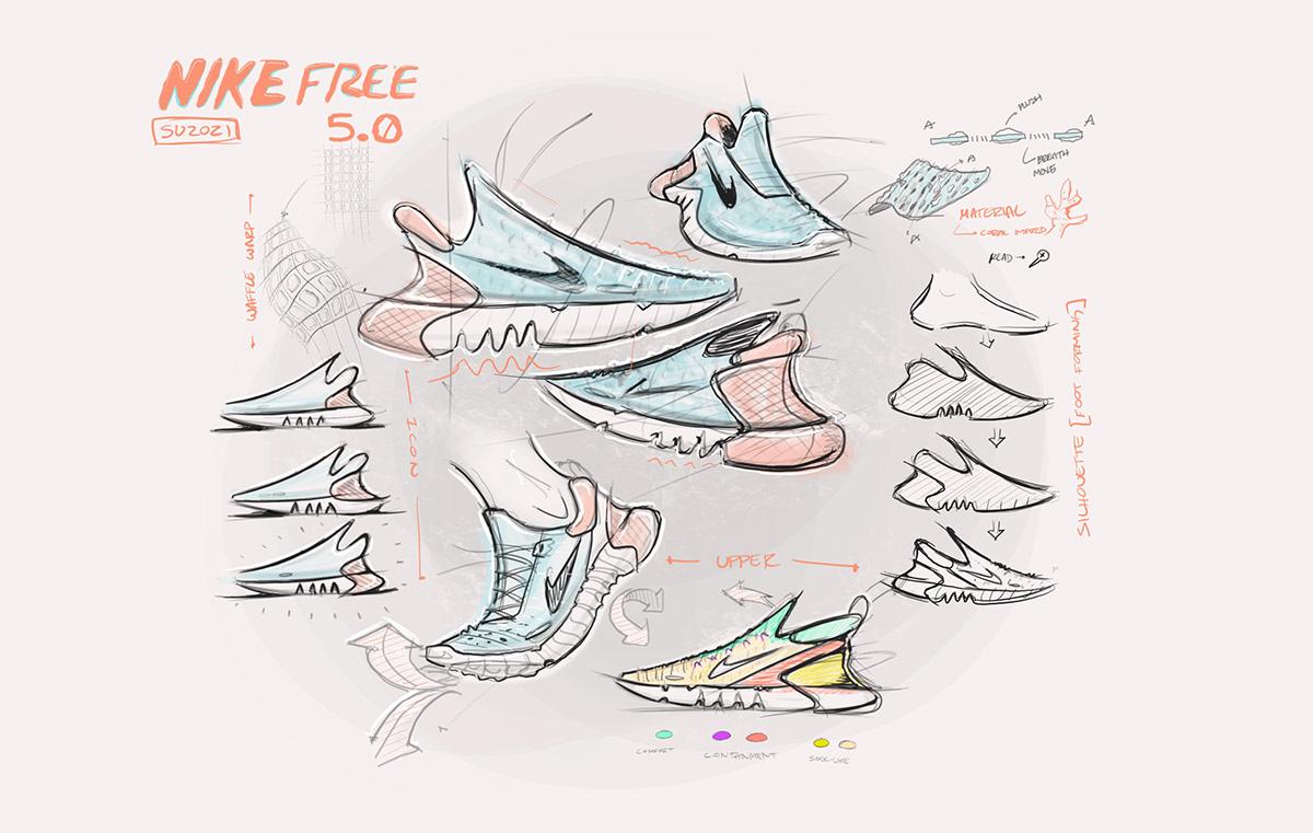 Fashion  footwear footweardesign industrial design  innovation Nike productdesign running