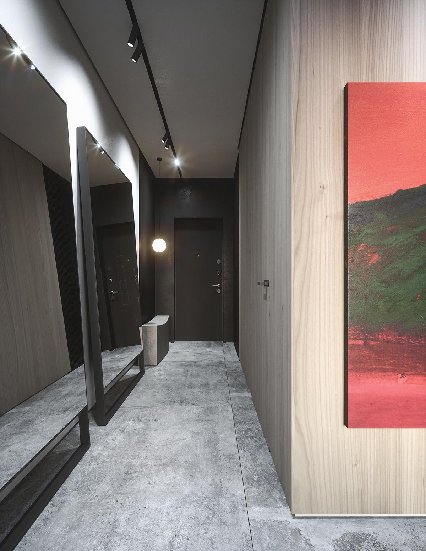 japanesse FStorm concrete red penthouse Eastern dark Minimalism