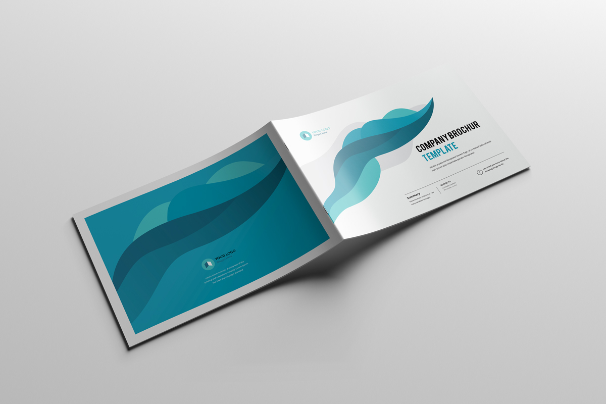 a4 landscape company profile 16 pages on behance