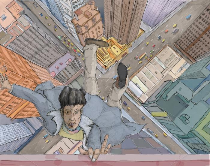 vertigo Drawing  ILLUSTRATION  buildings cityscape